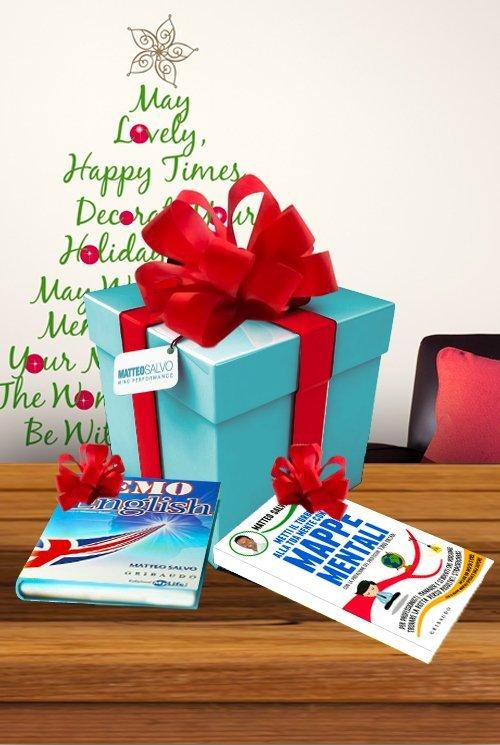 pacchetto natalizio con libri