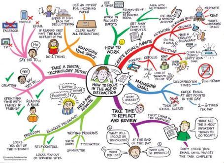 mappa mentale concentrazione